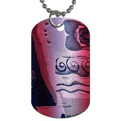Background Fabric Patterned Blue White And Red Dog Tag (two Sides)