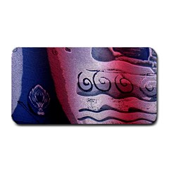 Background Fabric Patterned Blue White And Red Medium Bar Mats