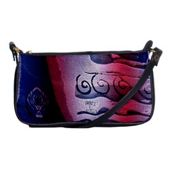Background Fabric Patterned Blue White And Red Shoulder Clutch Bags