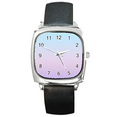 Simple Circle Dot Purple Blue Square Metal Watch