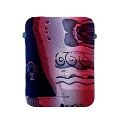 Background Fabric Patterned Blue White And Red Apple Ipad 2/3/4 Protective Soft Cases