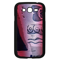 Background Fabric Patterned Blue White And Red Samsung Galaxy Grand Duos I9082 Case (black)