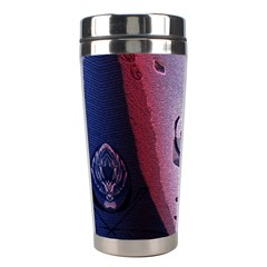 Background Fabric Patterned Blue White And Red Stainless Steel Travel Tumblers