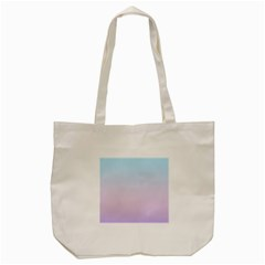 Simple Circle Dot Purple Blue Tote Bag (cream)