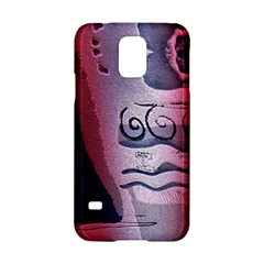 Background Fabric Patterned Blue White And Red Samsung Galaxy S5 Hardshell Case