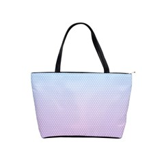 Simple Circle Dot Purple Blue Shoulder Handbags