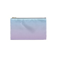Simple Circle Dot Purple Blue Cosmetic Bag (small)