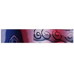 Background Fabric Patterned Blue White And Red Flano Scarf (Large)