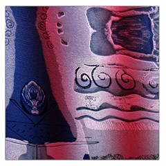 Background Fabric Patterned Blue White And Red Large Satin Scarf (Square)