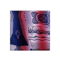 Background Fabric Patterned Blue White And Red Satin Bandana Scarf