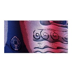 Background Fabric Patterned Blue White And Red Satin Wrap