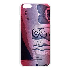 Background Fabric Patterned Blue White And Red Apple Seamless iPhone 6 Plus/6S Plus Case (Transparent)