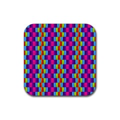 Background For Scrapbooking Or Other Patterned Wood Rubber Square Coaster (4 pack)