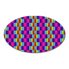 Background For Scrapbooking Or Other Patterned Wood Oval Magnet