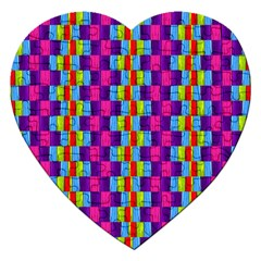 Background For Scrapbooking Or Other Patterned Wood Jigsaw Puzzle (Heart)