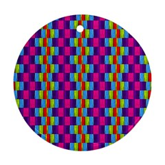 Background For Scrapbooking Or Other Patterned Wood Round Ornament (Two Sides)
