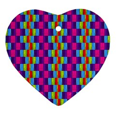 Background For Scrapbooking Or Other Patterned Wood Heart Ornament (Two Sides)
