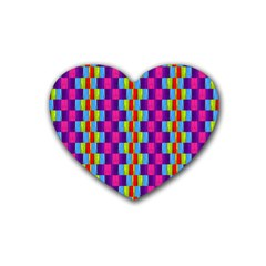 Background For Scrapbooking Or Other Patterned Wood Rubber Coaster (Heart)