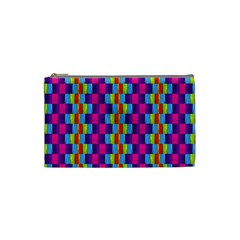 Background For Scrapbooking Or Other Patterned Wood Cosmetic Bag (Small)