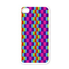Background For Scrapbooking Or Other Patterned Wood Apple iPhone 4 Case (White)