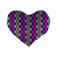 Background For Scrapbooking Or Other Patterned Wood Standard 16  Premium Flano Heart Shape Cushions