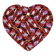 Background For Scrapbooking Or Other Shellfish Grounds Ornament (Heart)
