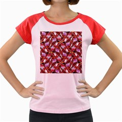 Background For Scrapbooking Or Other Shellfish Grounds Women s Cap Sleeve T-Shirt
