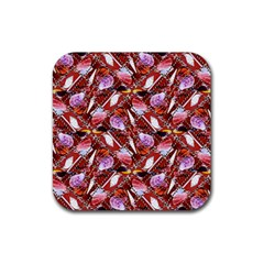 Background For Scrapbooking Or Other Shellfish Grounds Rubber Square Coaster (4 pack)