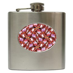 Background For Scrapbooking Or Other Shellfish Grounds Hip Flask (6 oz)