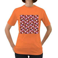 Background For Scrapbooking Or Other Shellfish Grounds Women s Dark T-Shirt