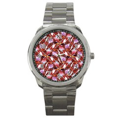Background For Scrapbooking Or Other Shellfish Grounds Sport Metal Watch