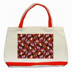 Background For Scrapbooking Or Other Shellfish Grounds Classic Tote Bag (Red)