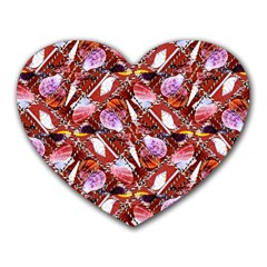 Background For Scrapbooking Or Other Shellfish Grounds Heart Mousepads