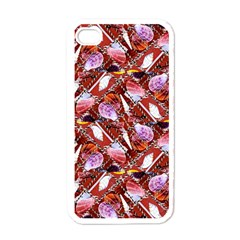 Background For Scrapbooking Or Other Shellfish Grounds Apple iPhone 4 Case (White)