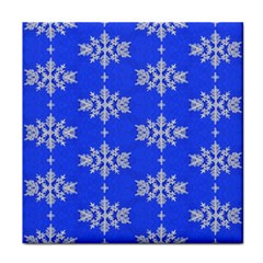 Background For Scrapbooking Or Other Snowflakes Patterns Tile Coasters