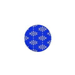 Background For Scrapbooking Or Other Snowflakes Patterns 1  Mini Buttons