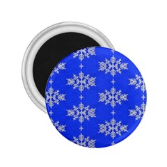 Background For Scrapbooking Or Other Snowflakes Patterns 2 25  Magnets