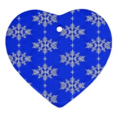 Background For Scrapbooking Or Other Snowflakes Patterns Ornament (heart)