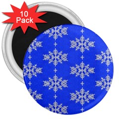 Background For Scrapbooking Or Other Snowflakes Patterns 3  Magnets (10 pack)