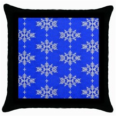 Background For Scrapbooking Or Other Snowflakes Patterns Throw Pillow Case (Black)