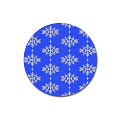 Background For Scrapbooking Or Other Snowflakes Patterns Magnet 3  (round)