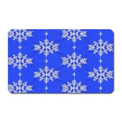 Background For Scrapbooking Or Other Snowflakes Patterns Magnet (Rectangular)