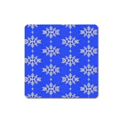 Background For Scrapbooking Or Other Snowflakes Patterns Square Magnet