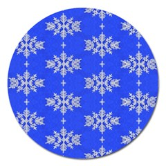 Background For Scrapbooking Or Other Snowflakes Patterns Magnet 5  (Round)