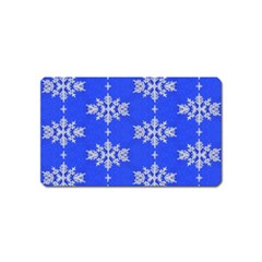 Background For Scrapbooking Or Other Snowflakes Patterns Magnet (Name Card)