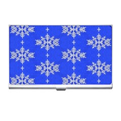 Background For Scrapbooking Or Other Snowflakes Patterns Business Card Holders