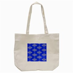 Background For Scrapbooking Or Other Snowflakes Patterns Tote Bag (Cream)