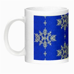 Background For Scrapbooking Or Other Snowflakes Patterns Night Luminous Mugs