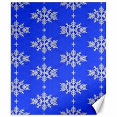 Background For Scrapbooking Or Other Snowflakes Patterns Canvas 8  x 10