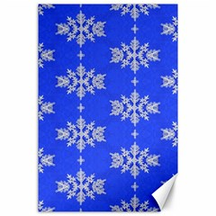 Background For Scrapbooking Or Other Snowflakes Patterns Canvas 24  x 36